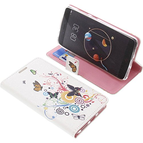 foto-kontor Tasche für Archos Diamond Alpha Book Style Schmetterlinge Schutz Hülle Buch