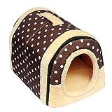 SOWLFE ANPI 2 en 1 casa de Mascotas y sofá, Cama Antideslizante para Perro o Gato, Cama Plegable de Invierno Suave y Acogedor, colchón Desmontable