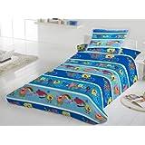Ropa de cama de Bob esponja de dos caras 140 x 200 cm ropa de cama Patrick gran calidad (Öko Tex Standard 100)