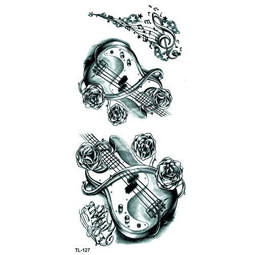 rdicht temporäre Tätowierung Mann Musik Henna Tattoo Aufkleber Schönheit Violine Kind Tattoo Mädchen ()