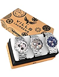 Vills Laurrens VL-1150+1113+1189 Attractive Combo of 3 Multi-Color Analogue Watches for Men and Boys