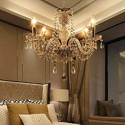 Samger Lussuoso Lampadario a 4 bracci K5 Lampadario a soffitto in cristallo E14 Lampada a sospensione per soggiorno