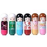 chendongdong muñeca linda del estilo de Womans Lasting Hidratante Crema de cacao crema del lápiz labial del lustre del labio del maquillaje