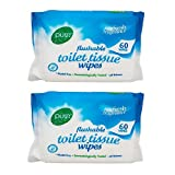 #9: Pure Flushable Toilet Tissue Wipes Pack Of 2 60's