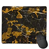 Mouse Pad Black Gold Mix Picture Rectangle Rubber Mousepad 8.66 X 7.09 Inch Gaming Mouse Pad with Black Lock Edge