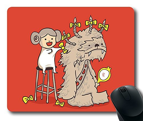 "Wookie Is A Wonderful Friend Durable Rubber Customized Mousepad Rectangle Mouse Pad 220mm*180mm*3mm (9""*7"") -WS82139"