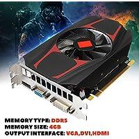 Momola - Tarjeta gráfica Independiente para AMD ATI Radeon HD7670, 4 GB, DDR5,