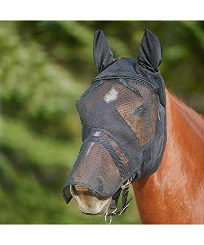 Waldhausen Fliegenmaske mit Ohren-u.Nasenschutz, schwarz, WB, schwarz, Warmblut