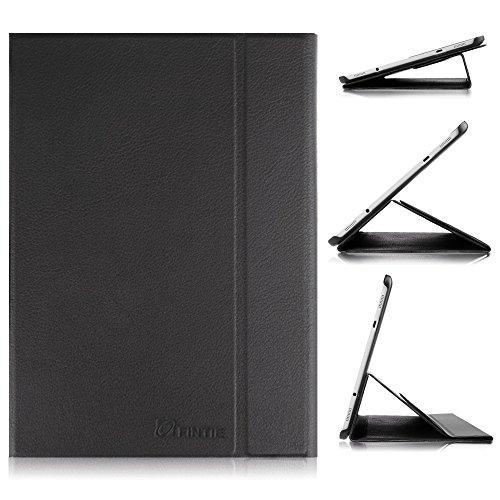 Fintie Samsung Galaxy Tab S29.7 Hülle Case - Ultra-schmaler Flip Folio Smart Book Cover Schutzhülle mit Auto Schlaf / Wach Funktion für Samsung Galaxy Tab S2 9,7 Zoll Tablet-PC,Schwarz (Samsung Galaxy S2 Case)
