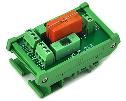 Electronics-Salon DIN Rail Mount Fusing DPDT 8 A Power Relay Interface Modul, AC Coil 230 V Relais. -