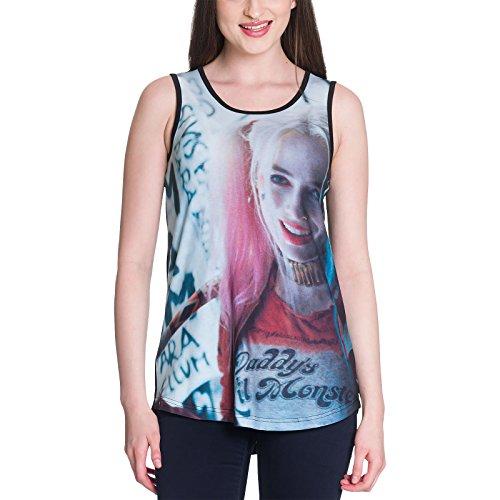 Pelotón del suicidio camisetas sin mangas Harley Quinn Daddys Lil Monster Elbenwald DC Comics - M