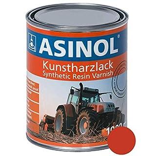 ASINOL AGRIA ROT NEU 1.000 ml Kunstharzlack Farbe Lack 1l Liter Dose