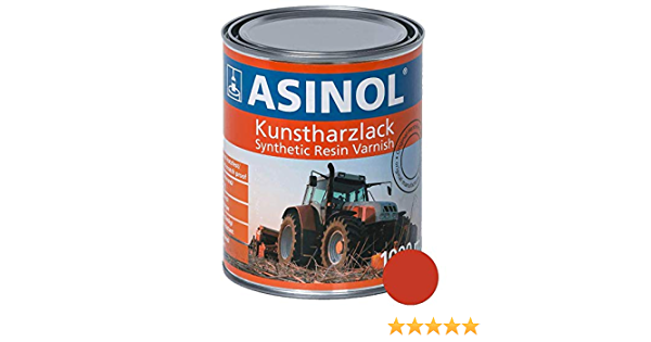 Asinol Agria Rot Neu 1 000 Ml Kunstharzlack Farbe Lack 1l Liter Dose Auto