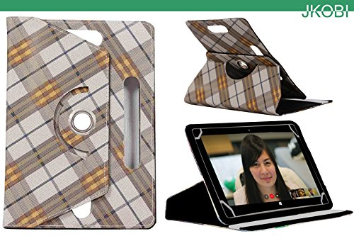 Jkobi 360* Rotating Front Back Tablet Book Flip Case Cover For Dell Venue 7 3000 (Universal) -Checks Design  available at amazon for Rs.275