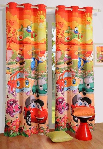 Swayam Curtain Concept Digitally Printed Faux Silk Window Curtain - 48