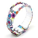 Woodln Ersatzband Armband Zubehör für Samsung Galaxy Gear Fit R350 Smartwatch (New Color Water)