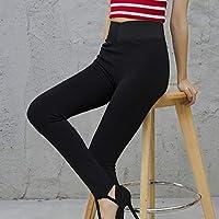 Leggings de Nylon de Alta Densidad para Mujer, Además de Engrosamiento de Terciopelo, Súper Suave Y de Cintura Alta, No Puede Permitirse Usar la Pelota, Adelgazando un Pantalón Pies Pantalones,negro,Una talla Leggings