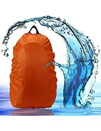 Mochila revestimiento 2win2buy 30–40L/45–65L Agua Cubierta Resistente Backpack Mochila Escolar Lluvia resistente al móvil Protector de lluvia, naranja, XL: 45-65L