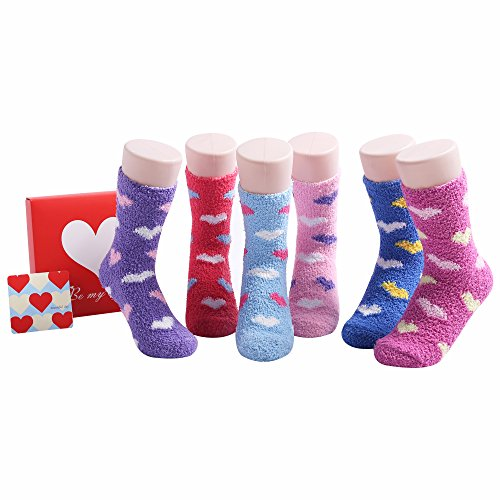 Crazy Funny Fluffy Womens Socks - Mothers Day Birthday Gift for Her Size 4-8