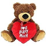 Sweety Toys 3884 Kuschelbär Valentine 55 cm braun mit Herz
