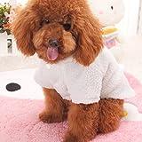 Goodsatar Ovejas invierno caliente rellenado engrosamiento abrigo perro trajes de mascotas ropa (XL, Blanco)