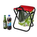 ShopSquare64 Outdoor Klappstuhl Kühlwasser Eisbeutel Picknick Essen Trinken Obst Mittagessen Aufbewahrungsbox Strand Hocker