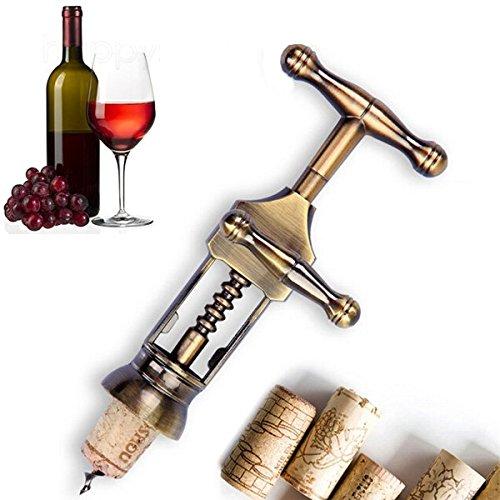 Bluelover Zink-Legierung Rot Wein Öffner Klassische Antike Metall Korkenzieher Wein - Wein Antik