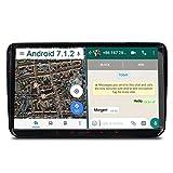 "A-Sure 9"" Android 7.1.2 Autoradio GPS Mirrorlink 1024*600 Wifi Bluetooth 4G 16ROM 2G RAM OBD DAB für VW GOLF TOURAN PASSAT TIGUAN T5 EOS Sharan Polo SKODA Yeti Octavia Fabia SEAT Altea SC9W7J 2-Jahre-Garantie"