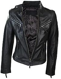 0cc0c3ff811eb Amazon.fr   blouson cuir - Femme   Vêtements