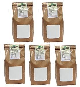 Erythritol Erythrit Premium Zuckerlos kalorienfrei, vegan 5 x 1 kg = 5 kg,