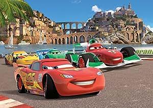 Disney Cars Panorama Papier Peint dècoration pour la Chambre d'Enfants 360x254cm