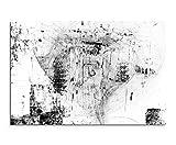 Sinus Art Astratto 1419-120x 80cm Bianco-Nero Immagini-Quadro Stampata in Formato XXL-B--Top-Tela-da Parete Quadro-Arte Stampa su-Quadro Astratto XXL