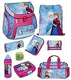 Familando Disney die Eiskönigin Schulranzen-Set 9-TLG. Scooli Campus Up Frozen Magic mit Sporttasche Federmappe und Regenschutz