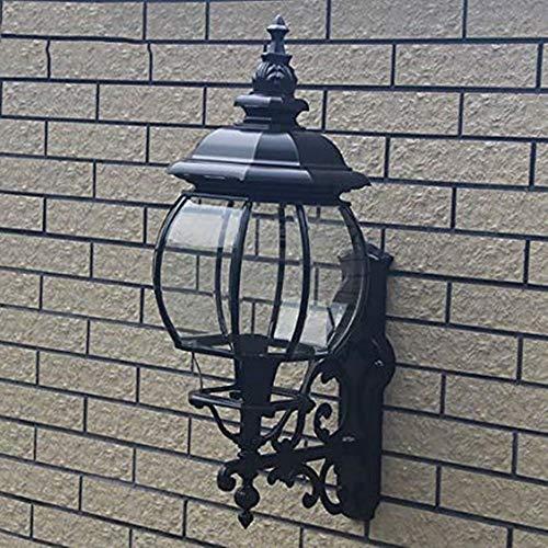 Wanlianer-Home Chinesischen Stil Retro Villa Garten Licht wasserdichte Rostschutzlampe Shop Mall Außerhalb Wandleuchte Industrielle Vintage (Farbe : Schwarz, Größe : Free Size)