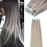 Extension Adhesive Cheveux Naturel 40 Pcs Bande Adhesive Extension - Remy Human Hair...