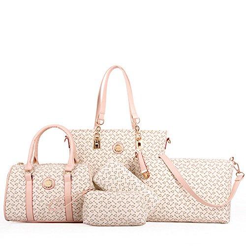 fanhappygo Fashion Retro Leder Frauen Geldbörsen Handtaschen Damen Crossbody Tasche Messenger Bag Tasche Tote 8 sets
