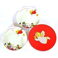 PPD SET DI PIATTI IN PORCELLANA da colazione, Piatto da dessert in box Angel & Gifts - La Angels Gift Box
