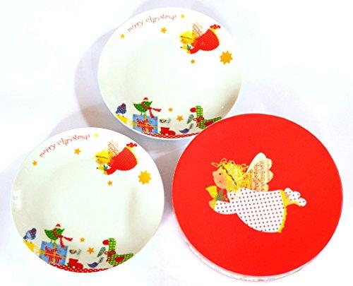 ppd Porzellan Teller-Set Dessertteller Kuchenteller Frühstücksteller in Box Angel & Gifts