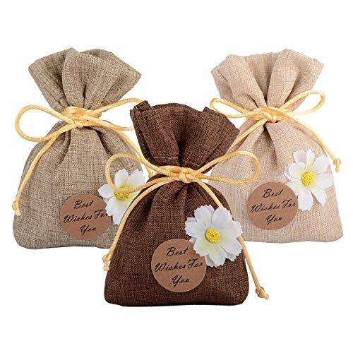 Wolfteeth 15 pz 10 x 11 cm sacchetti regalo bomboniere bustine confett con fiori per compleanno festa comunione matrimonio