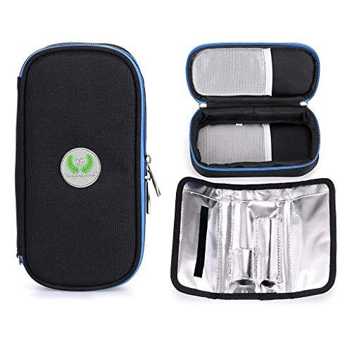 Aranticy Insulin Kühltasche, Diabetikertasche Insulin Taschen Organisator Medikamenten Kühltasche Diabetiker Tasche tragbar Medical Reisen Kühler Fall für Medikamente Thermotasche Insulin Cool Bag - Cool Thermische