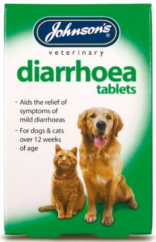 Diarrea pastillas para perros 12 Tabletas - Johnsons (TP)(JDT)