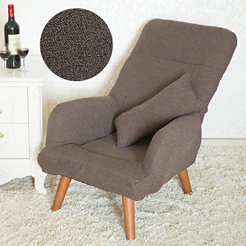 Qing MEI Faltbare Rückenlehne Stillen Stuhl Schwangere Frauen Fütterung Stuhl Kann Baumwolle Leinen Mantel Gewaschen Werden A++ (Farbe : Brown)