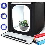 Portatile Tenda Photo Studio, SAMTIAN 16''x16''x16 ''/ 40 * 40 * 40cm Studio Fotografico illuminazione Boxcon 6 carta di sfondo per fotografia
