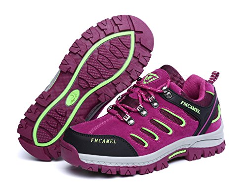 Scarpe da corsa da donna Low Trekking Passeggiate Escursionismo Scarpe da arrampicata Leisure Travel Anti-skid Impermeabile Air Tech Shock Absorbing Fitness Palestra Sport Outdoor Scarpe Viola