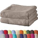 Erwin Müller Sommerdecke, Baumwolldecke - 2er-Pack - luftig-leicht, weiche Qualität, sehr angenehm - Schlamm Größe 150x200 cm - weitere Farben und Größen - 100% Baumwolle