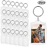Ponacat Foto einfügen Schlüsselbund transparent Acryl leer personalisierte Foto Schlüsselanhänger Foto Snap-In Schlüsselanhänger