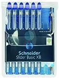Schneider Slider Basic XB und Slider Rave XB Kugelschreiber 6+1 Stück