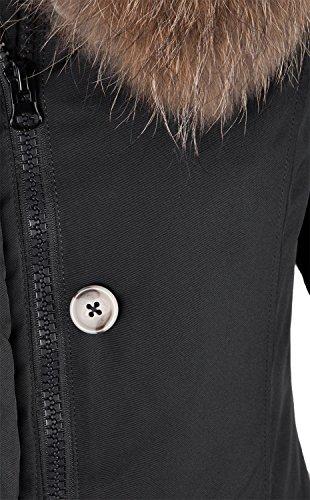 Grimada 6M166M Damen Daunenmantel Arctic Parka TARORE mit Echtfellkapuze (34, schwarz) - 4