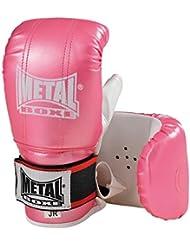 Metal Boxe - Guantes para saco de boxeo, color rosa, talla única
