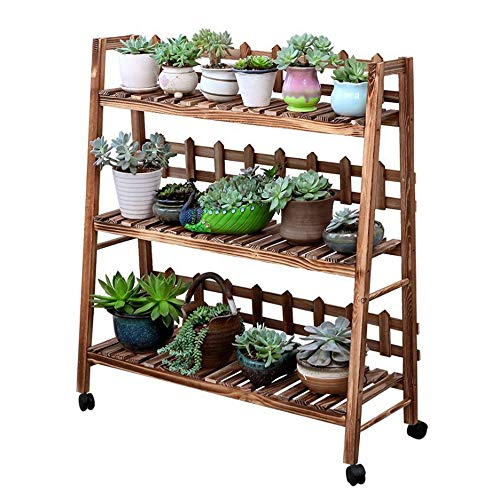 3 Tier Schritt Design Pflanze Stehen Indoor Outdoor Holz Pflanze Regal Display Rack Leiter Blumentopf Halter Pflanzer Organizer -